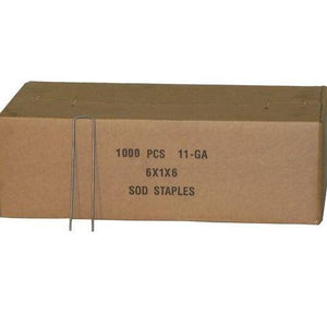 "6"" Sod Staples - 1000 / Box"