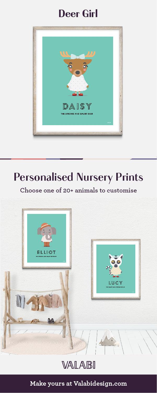 Animal Nursery Art Baby Gift Print Deer