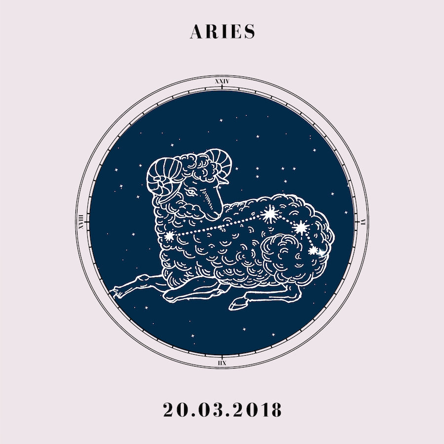 """Aries"" - Zodiac Star Sign Nursery Art Print Close Up - Custom Baby Gifts"