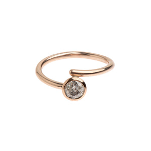 Salt and Pepper Diamond and Rose Gold Ring