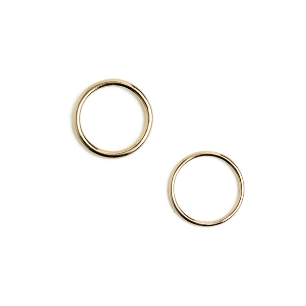1.5mm and 2mm thick round wire 9ct yellow gold rings