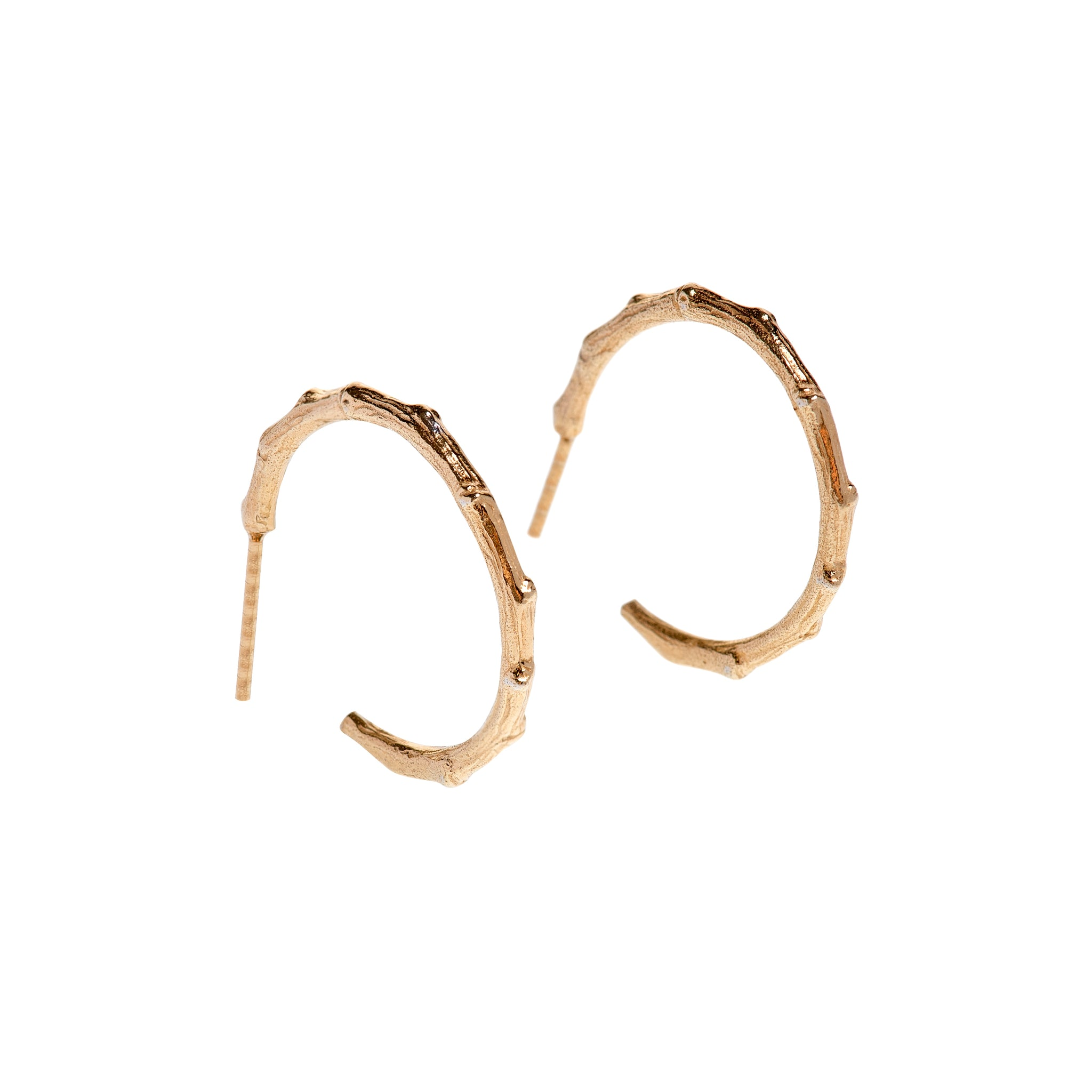 Branch Hoops Yellow Gold Plated