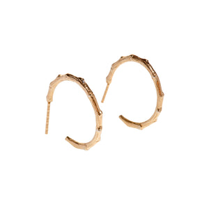 Branch Hoops Yellow Gold