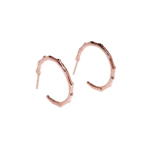 Branch Hoops Rose Gold
