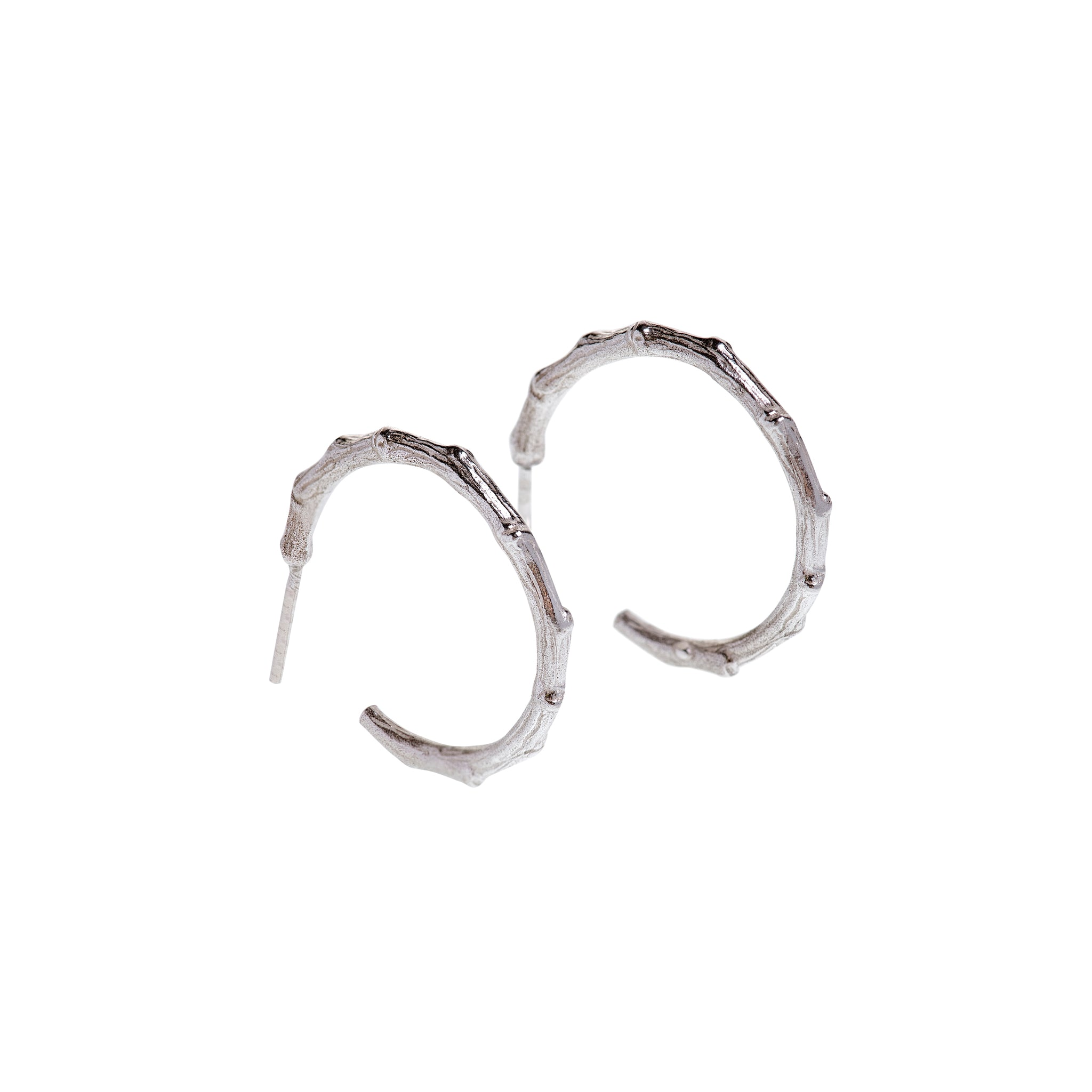 Branch Hoops Sterling Silver