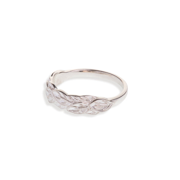 Sterling Silver Leaf Band