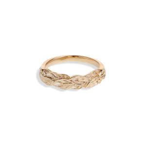 Yellow Gold Leaf Band