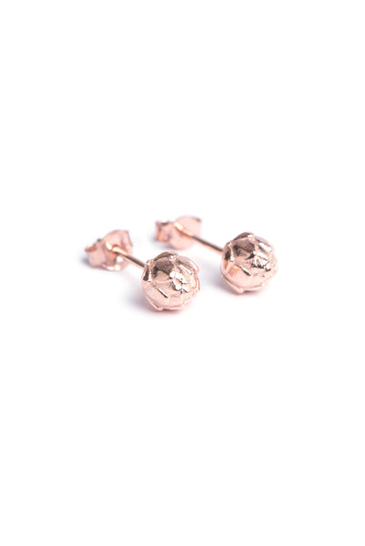 Rose gold King Protea inspired stud earrings