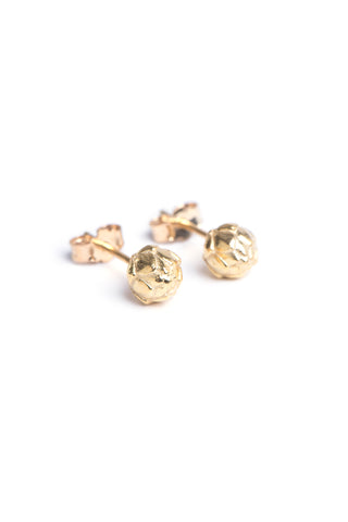 Protea Pod Studs in Yellow Gold