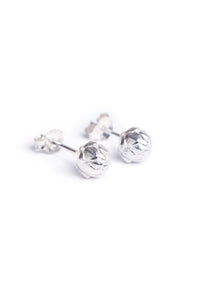 Sterling silver King Protea pod stud earrings.