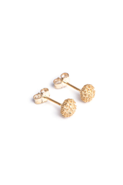 Yellow Gold Protea Pincushion earrings