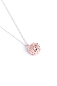 King Protea Pod Necklace- Rose Gold Plated