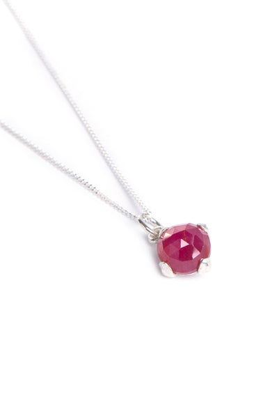 African Ruby Four Leaf Necklace