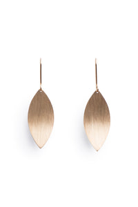 Protea Leaf Earring Yellow Gold Plated