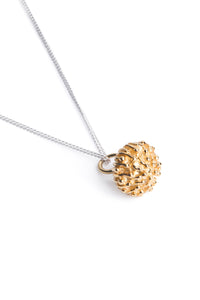 Protea Pincushion Necklaces- Yellow Gold plated
