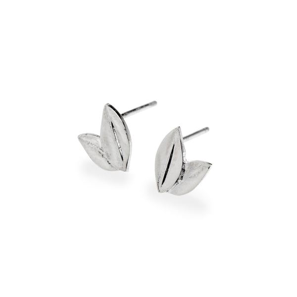 Two Leaf Stud in Sterling Silver