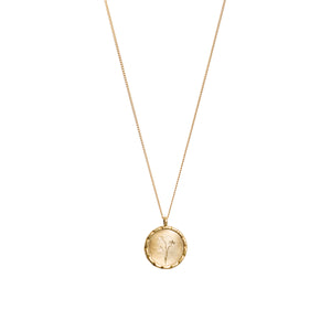 Watsonia Wild Flower Necklace in Yellow Gold
