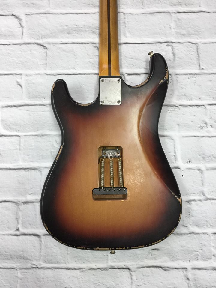 Fraser Guitars : VSS Sunburst Light Relic 60s : Retro Vintage Aged Custom S-Style Guitar