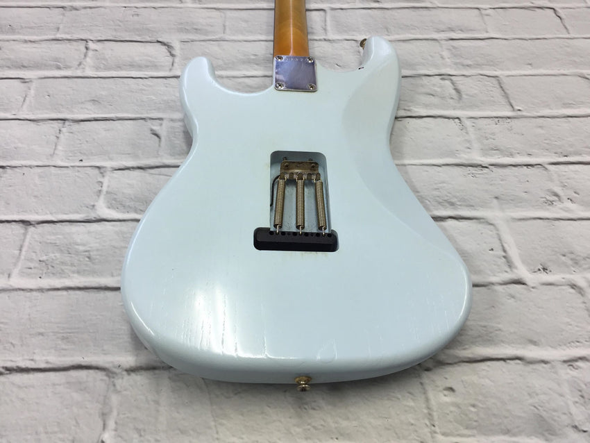 Fraser Guitars : VSS Sonic Blue Light Relic 60s : Retro Vintage Aged Custom S-Style Guitar
