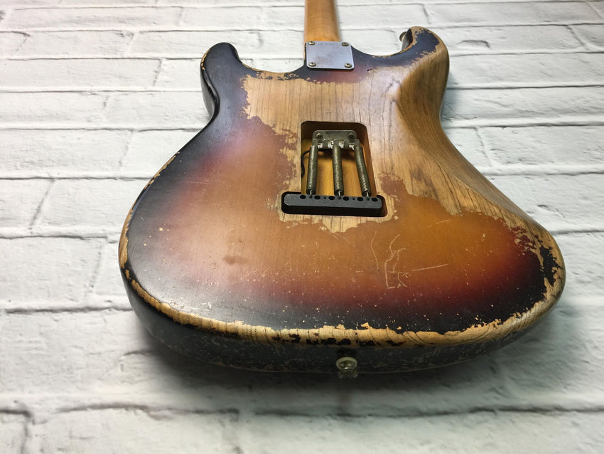 Fraser Guitars : VSS Sunburst Medium Relic 60s : Retro Vintage Aged Custom S-Style Guitar
