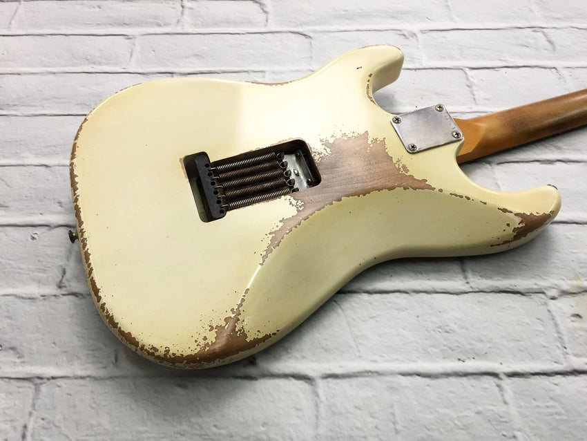 Fraser Guitars : VSS White Light Relic 60s : Retro Vintage Aged Custom S-Style Guitar