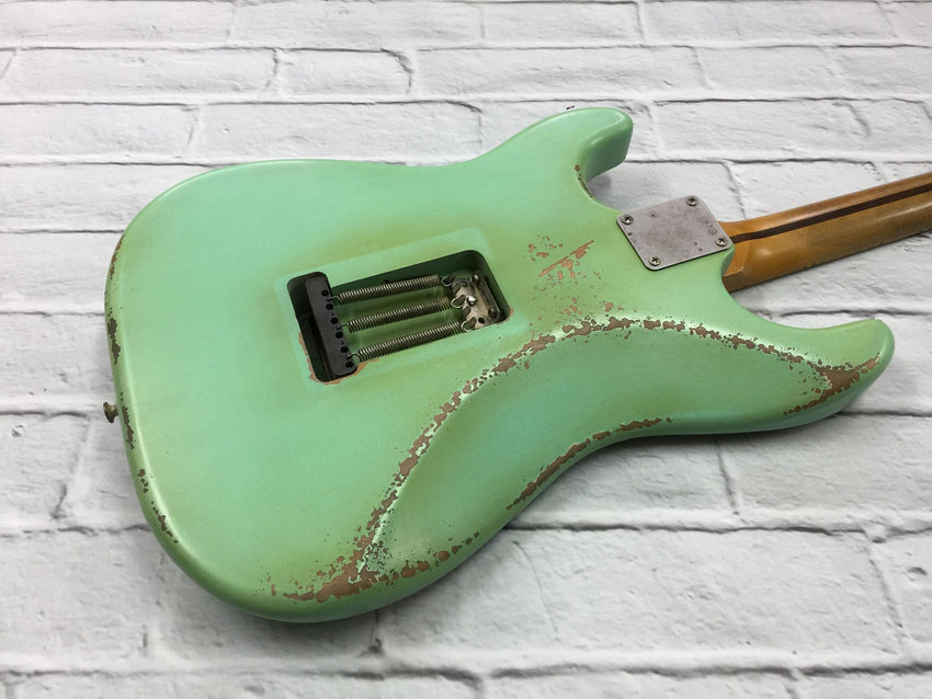 Fraser Guitars : VSS Surf Green Medium Relic 50s : Retro Vintage Aged Custom S-Style Guitar