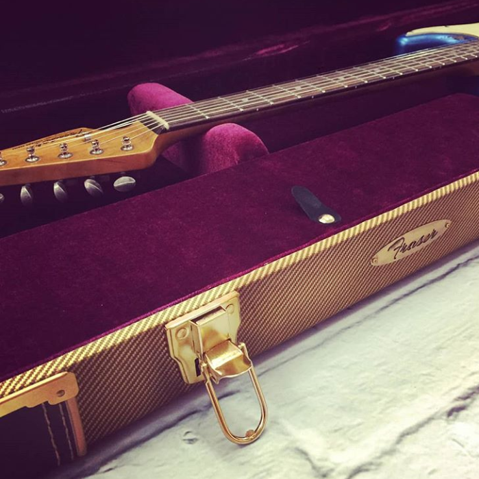 Fraser Guitars Aged Tweed Hard Case (Guitar not included)