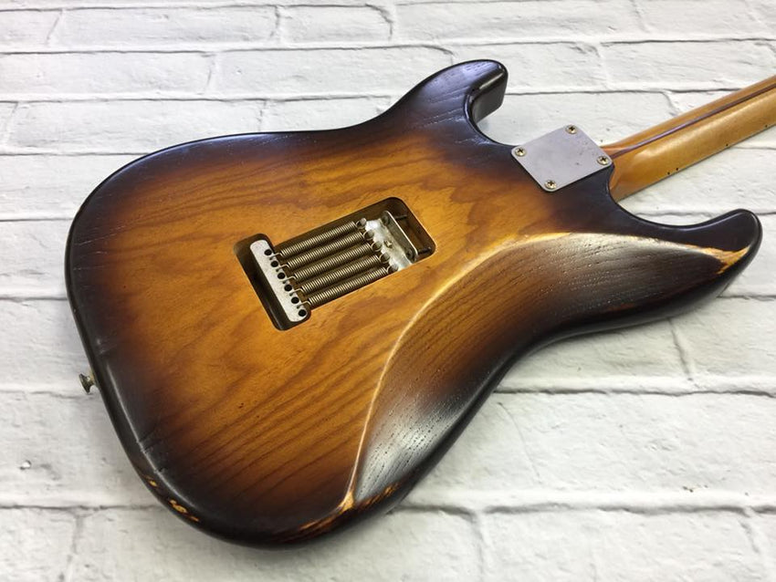 Fraser Guitars : VSS Tobaco Burst Light Relic Ash 54 : Retro Vintage Aged Custom S-Style Guitar