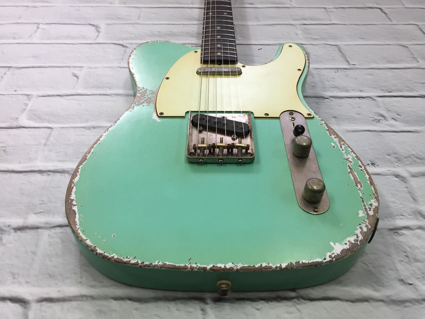 Fraser Guitars : VTS Surf Green Light Relic 60s : Retro Vintage Aged Custom T-Style Guitar