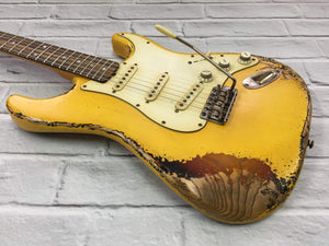 CSS Golden Yellow over Sunburst Heavy Relic Ash 60s