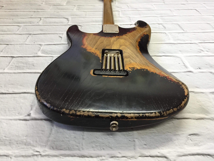 CSS Black over Sunburst HSS Heavy Relic Ash 60s