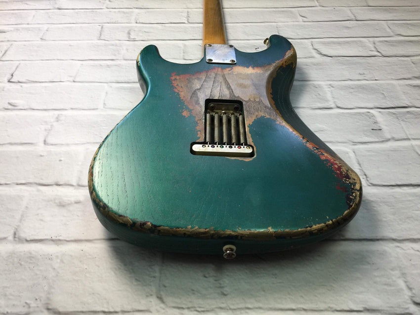 CSS Sherwood Green over Sunburst Heavy Relic Ash 60s