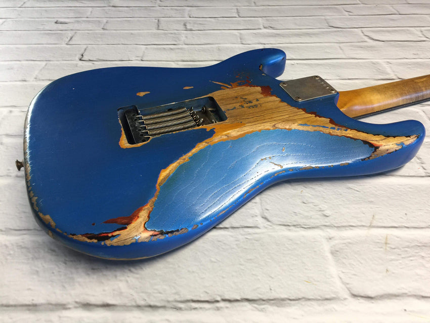 CSS Lake Placid  Blue over Sunburst HSS Medium Relic Ash 60s
