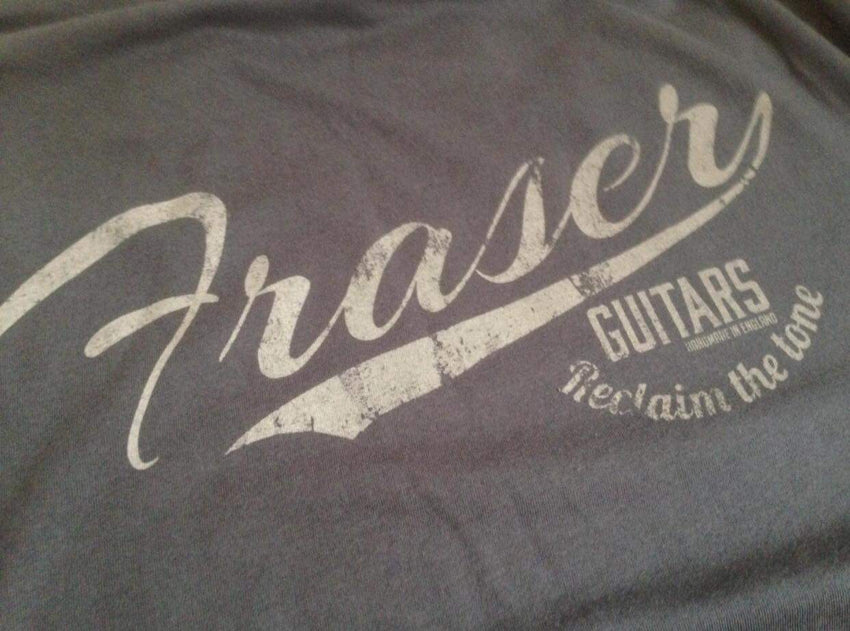 Fraser Guitars: The first T-Shirts up for grabs are available in Ash Black: Small, Medium, Large, Extra Large