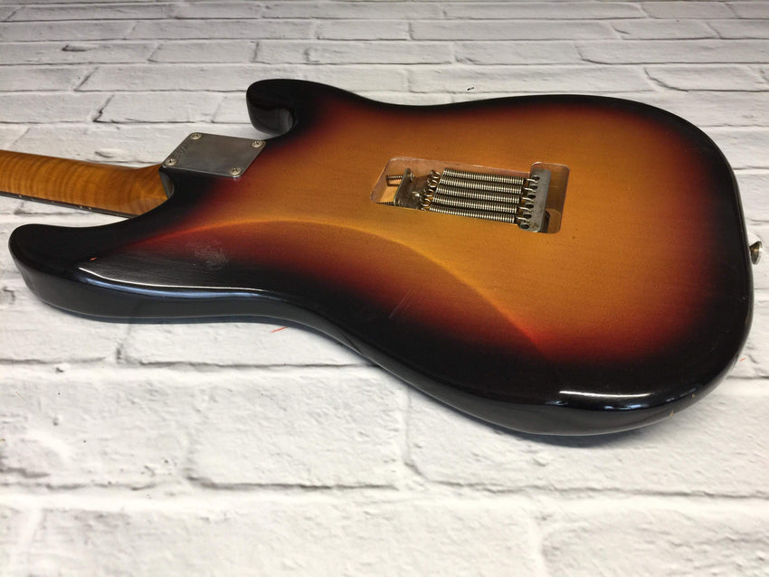 Fraser Guitars : CSS Sunburst Left-Handed Light Relic 60s : Retro Vintage Aged Custom S-Style Guitar