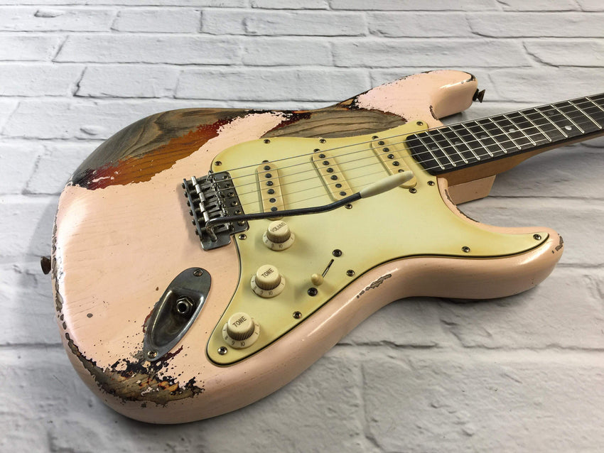 CSS Shell Pink over Sunburst Heavy Relic Ash 60s