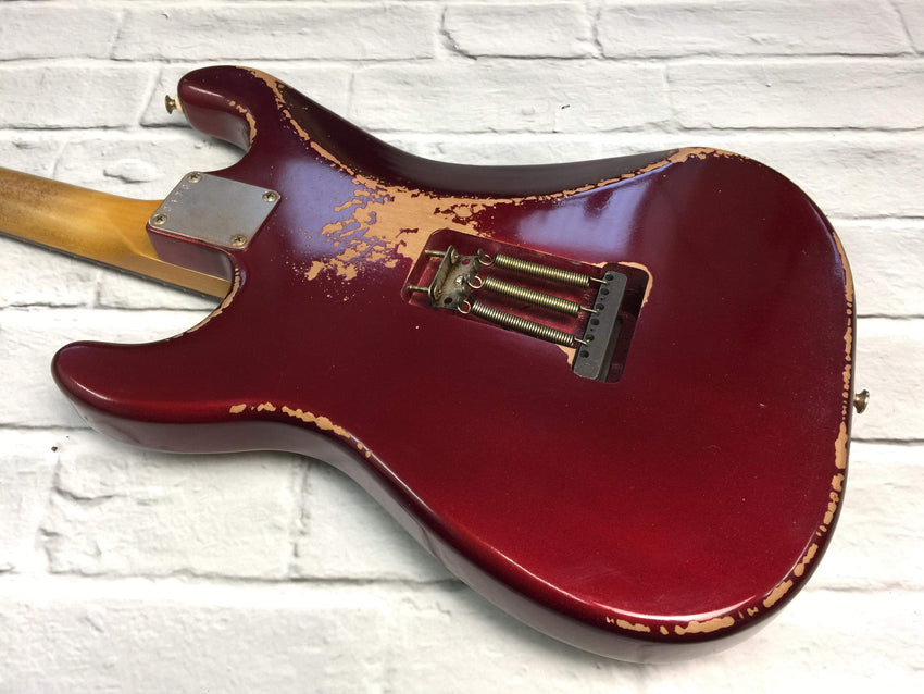 Fraser Guitars : CSS Candy Apple Red HSS Medium Relic 60s : Retro Vintage Aged Custom S-Style Guitar
