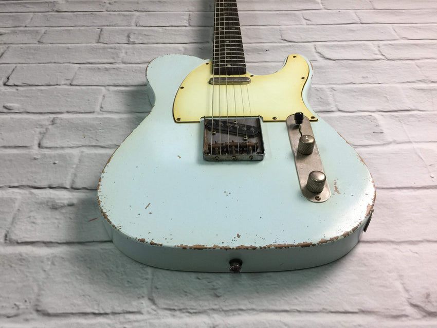Fraser Guitars : VTS Sonic Blue Light Relic 60s : Retro Vintage Aged Custom T-Style Guitar