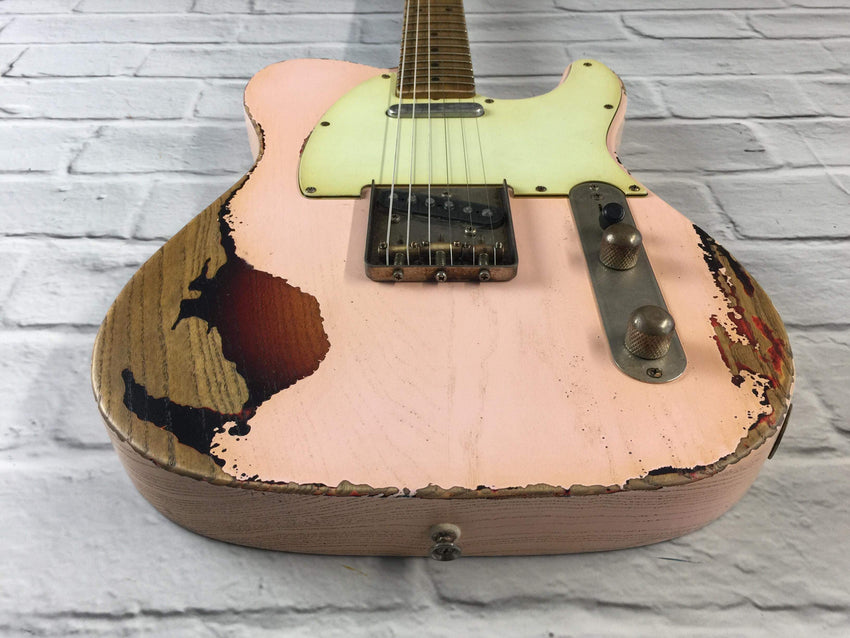CTS Shell Pink over Sunburst Heavy Relic Ash 60s