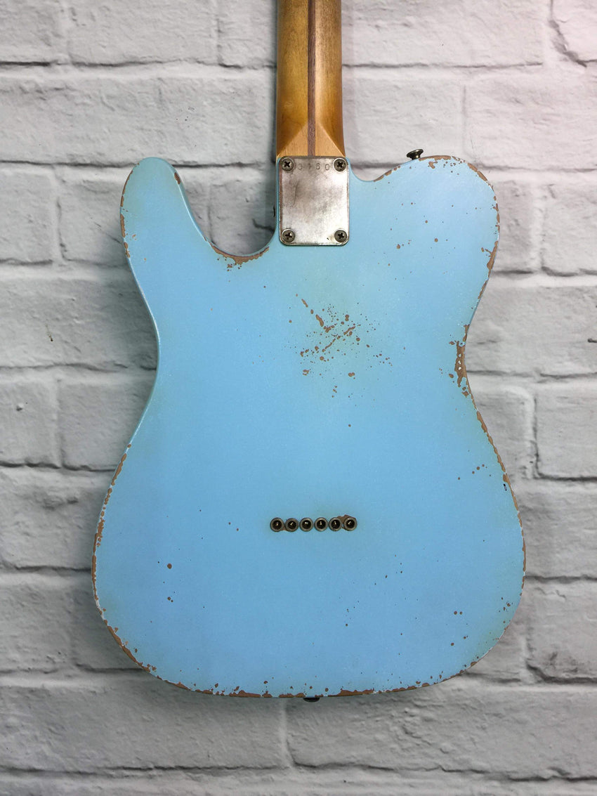 Fraser Guitars : VTS Daphne Blue Light Relic 50s : Retro Vintage Aged Custom T-Style Guitar