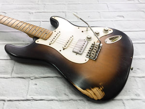 Fraser Guitars : CSS Tobacco Burst HSS Light Relic Ash 54 : Retro Vintage Custom Aged S-Style Guitar