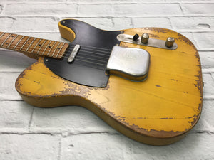 Fraser Guitars : VTS Butterscotch Light Relic Ash 52 : Retro Vintage Aged Custom T-Style Guitar