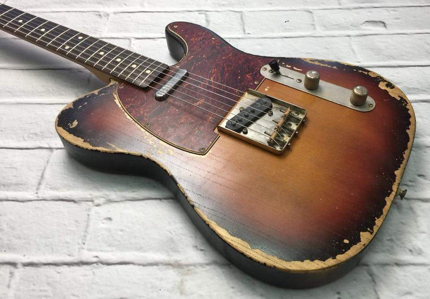 Fraser Guitars : VTS Sunburst Light Relic 60s : Retro Vintage Aged Custom T-Style Guitar