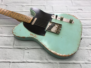 Fraser Guitars : VTS Surf Green Light Relic 50s : Retro Vintage Aged Custom T-Style Guitar