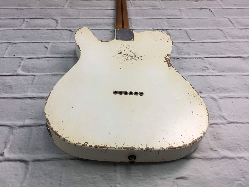 Fraser Guitars : VTS White Light Relic 50s : Retro Vintage Aged Custom T-Style Guitar