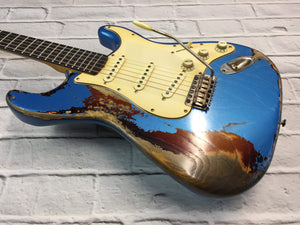CSS Lake Placid Blue over Sunburst Heavy Relic Ash 60s