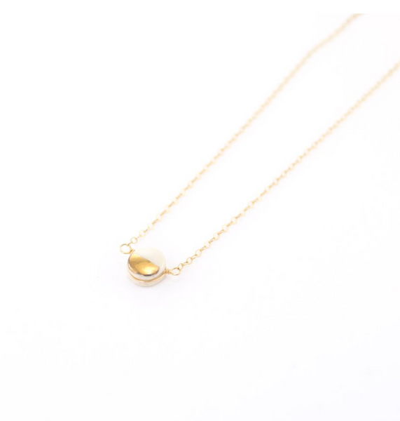 Teeny Pebble Necklace (gold)
