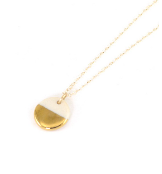 Tiny Pebble Necklace (gold)