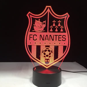 lampe effet 3d football club de nantes france football