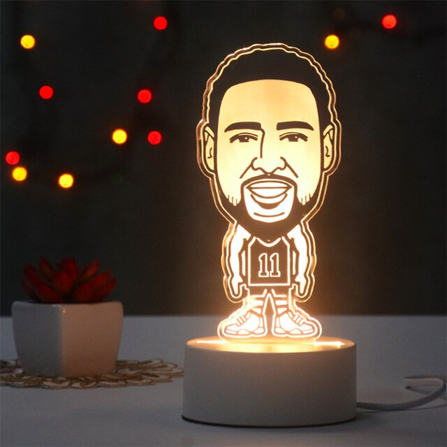 klay thompson shooter et défenseur d'élite lampe 3D NBA